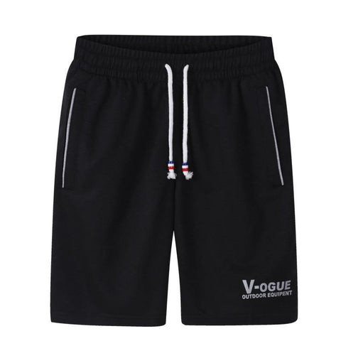 Front view Gym casual lightweight shorts Black