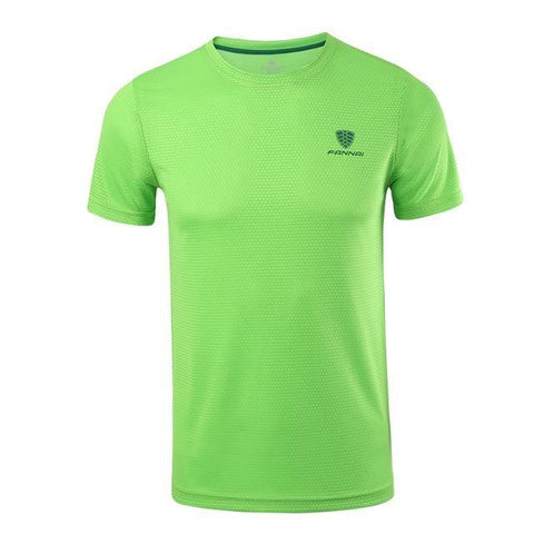 Front view  Quick Drying Fitness T Shirt green
