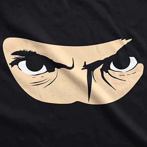 """Ninja face inside the """"ask me about my ninja disguise"""" t-shirt"""