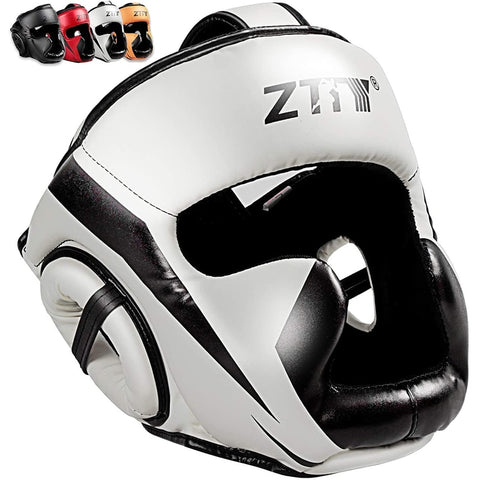 boxing helmet white color with other colors display