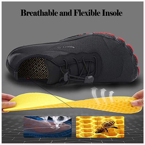 technical details for water shoes about hard rubber bottom sole and honeycomb internal sole