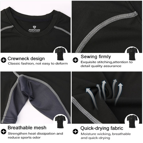 t-shirt technical details for neck design, breathable mesh armpits, quick drying fabric, firm sewing