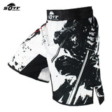 Side view with samurai artwork MMA Shorts Bushido Samurai Edition Martial Arts Asia