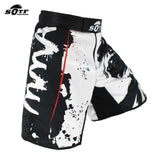 Side view with MMA text artwork - MMA Shorts Bushido Samurai Edition - Martial Arts Asia