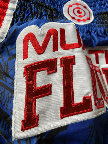 Muay Thai shorts embroidering detail