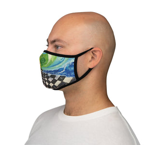 Mind Grid Fitted Polyester Face Mask