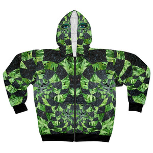Hemp Space Goddess AOP Unisex Zip Hoodie