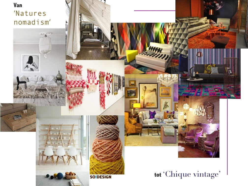 Moodboard interieurtrends 2014 DroomHout