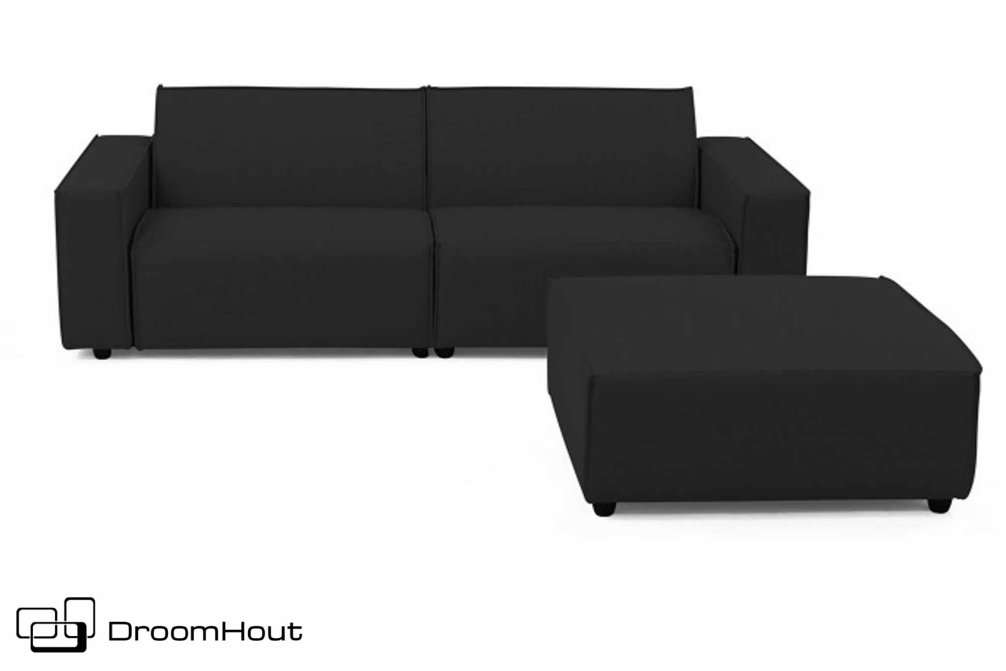 Loungeset 3-zits bank plus hocker bubalou
