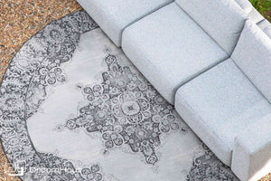 Vloerkleed outdoor Zuiver Coventry rond