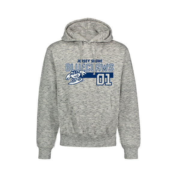 Jersey Shore BlueClaws Heather Pullover Hoodie Tee