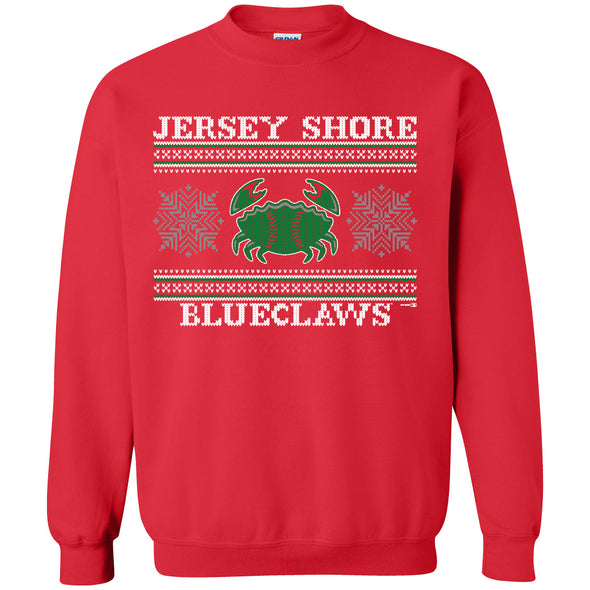Jersey Shore BlueClaws Christmas Sweater Crew