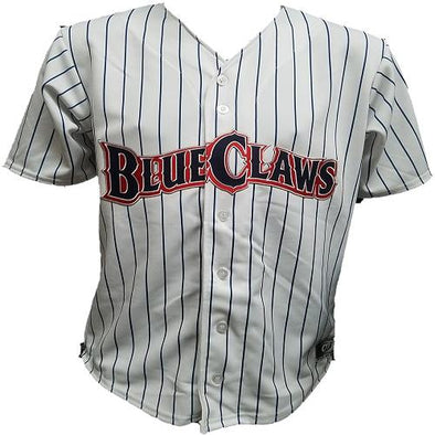 Lakewood BlueClaws Youth Throwback White Jersey