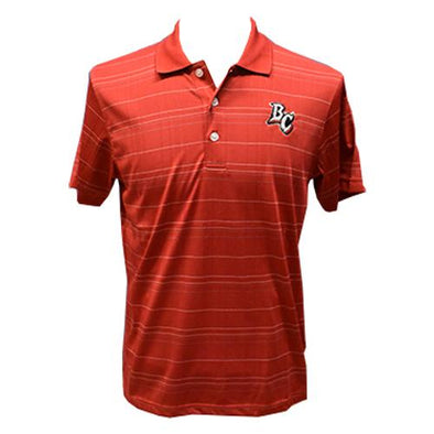 Lakewood BlueClaws Striped Red Polo