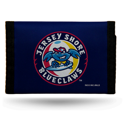 Jersey Shore BlueClaws Nylon Trifold Wallet