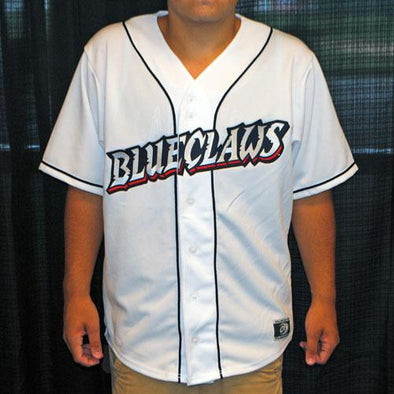 Lakewood BlueClaws Adult White Home Jersey