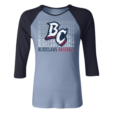 Lakewood BlueClaws Women's Home Raglan