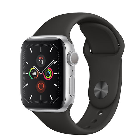 Apple Watch Series 5 Silver Aluminum Case with Sport Band 40mm