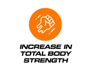 Increase in total body strength
