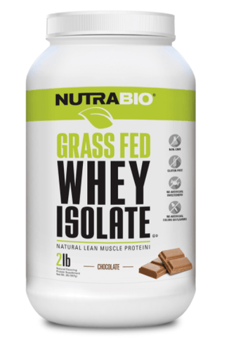 Grass Fed Whey Protein Isolate, Nutrabio
