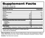 BCAA COMPLEX™ 30 servings Supplement Facts By Stance Supplements