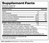 BETABOL™ Supplement Facts By EVOCHEM NUTRITION