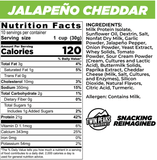 Protein Puffs Jalapeno Cheddar, Twin Peaks Ingredients, SNACKS