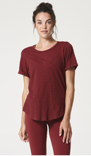 Load image into Gallery viewer, Got the Scoop Tee Maroon Fine