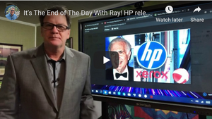 It's The End of The Day With Ray! HP releases 3rd Quarter Results Stock Price down 2% for the Year!