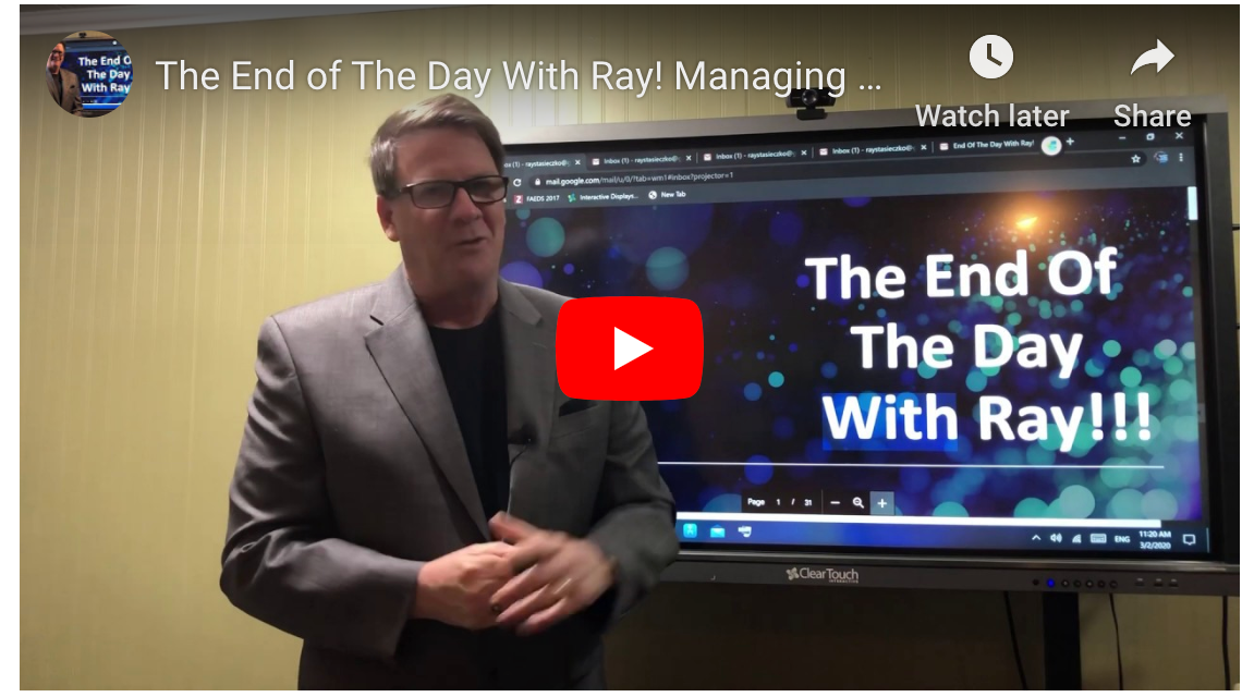 The End of The Day With Ray! Managing Print By Market Realities.