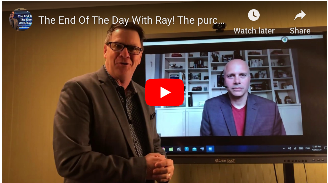 The End Of The Day With Ray! The purchasing depart. Is not creating the Company's new-normal