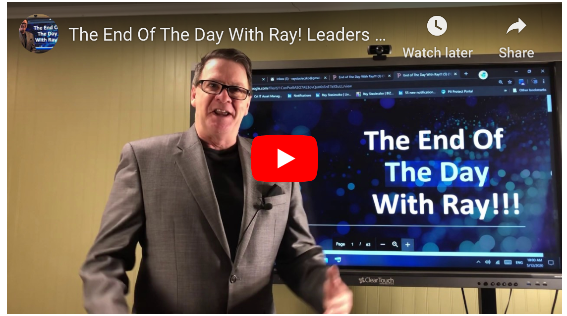 The End Of The Day With Ray! Leaders don't say,