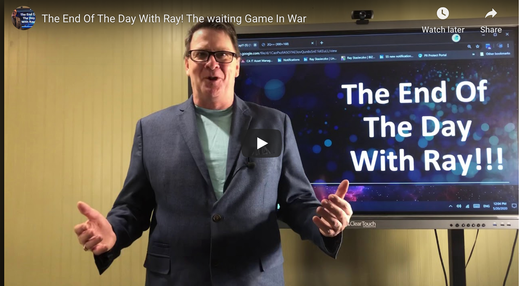 The End Of The Day With Ray! The waiting Game In War