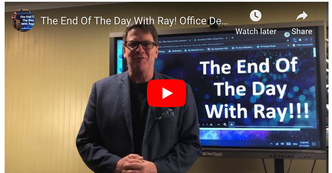 The End Of The Day With Ray! Office Depot and CompuCom, Staples and DEX What's Next?