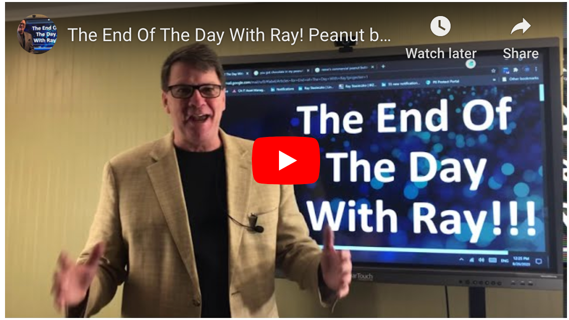 The End Of The Day With Ray! Peanut butter, Chocolate Bar, Imaging Channel.