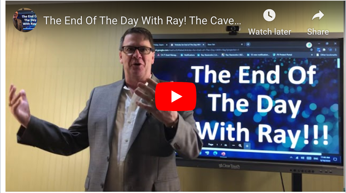 The End Of The Day With Ray! The Caveman Inventor