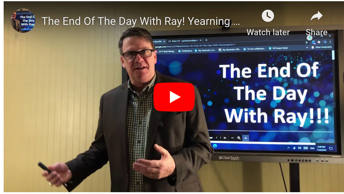 The End Of The Day With Ray! Yearning for something better? Alternatives to Amplify.