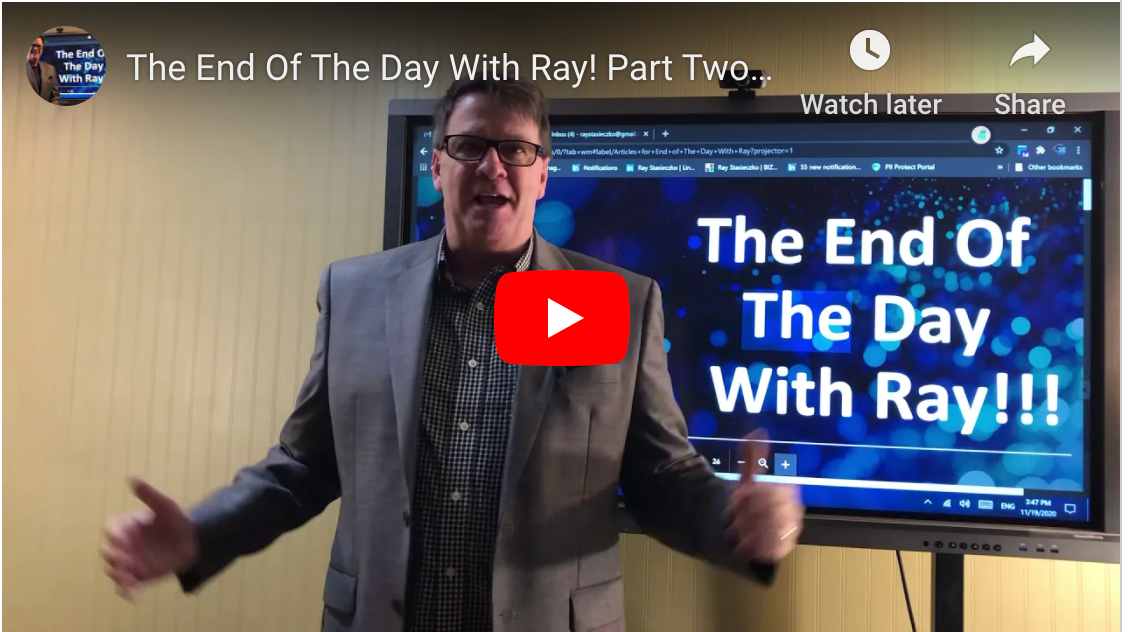 The End Of The Day With Ray! Part Two of yesterday's Leasing video.