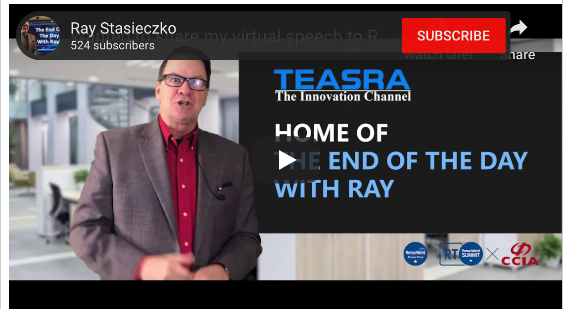 Wanted to share my virtual speech to REMAX 2020, Feeling Disrupted, I See More Ahead
