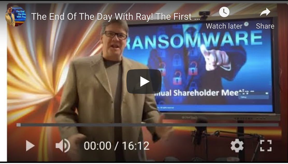 The End Of The Day With Ray! The First Ever Interview With Ransomware CEO
