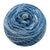 Naturally dyed pure merino in BlueBert - indigo and white colourway