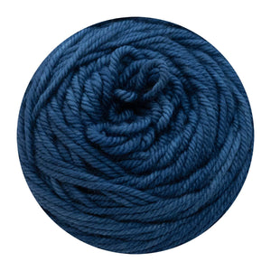 Naturally dyed pure merino in BlueStar - Indigo blue colourway