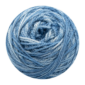 Naturally dyed pure merino in Blueicia - indigo and white colourway