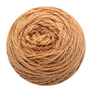 Naturally dyed pure merino in Blusharama - peach colourway