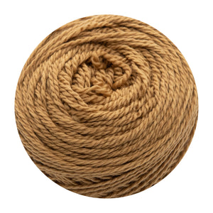 Naturally dyed pure merino in CaramelLift - caramel colourway
