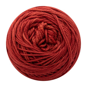 Naturally dyed pure merino in CherryDimple - red colourway
