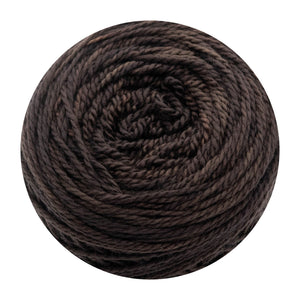 Naturally dyed pure merino in ChocolateVelvet - chocolate brown colourway