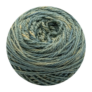 Naturally dyed pure merino in DragonTail - soft sage green colourway