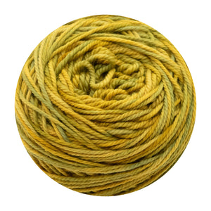 Naturally dyed pure merino in GoldSlinger - yellow green colourway