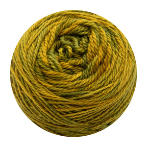 Naturally dyed pure merino in GoldStar - Gold green colourway